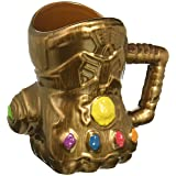 Vandor 26181 Marvel Infinity Wars Gauntlet Shaped Ceramic Soup Coffee Mug Cup, 20 Ounce (Color: gold, blue, red, orange, yellow, purple, green, Tamaño: 6