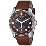 Victorinox Men's 241653 Classic Stainless Steel Watch with Brown Leather Band (Color: Brown/Leather, Tamaño: 45MM)