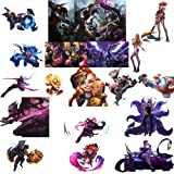 GTOTd Store MOBA Game League of Legends Sticker Set #4 [Premium Quality Matte Waterproof Vinyl Stickers for Water Bottles] 20 Pieces (Color: League of Legends-B)