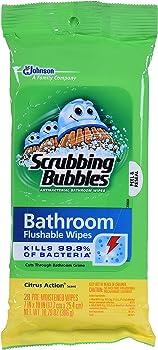 Scrubbing Bubbles Flushable Wipes