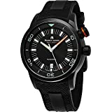 Maurice Lacroix Pontos S Diver Chronograph Mens Watches - 43mm Black Dial Black Rubber Band Swiss Automatic Dive Watch For Men PT6248-PVB013-332-1 (Color: Black)