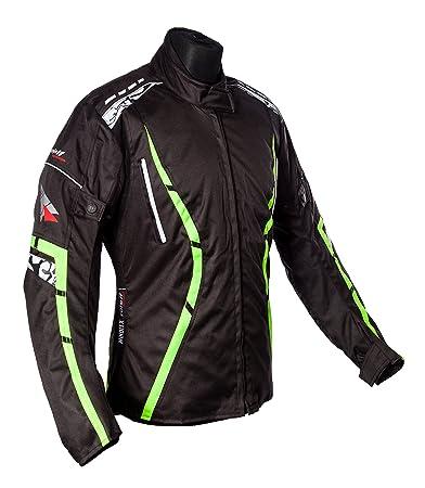 Roleff Racewear 150926 Veste Moto Zelina, Néon Jaune, Taille XXL