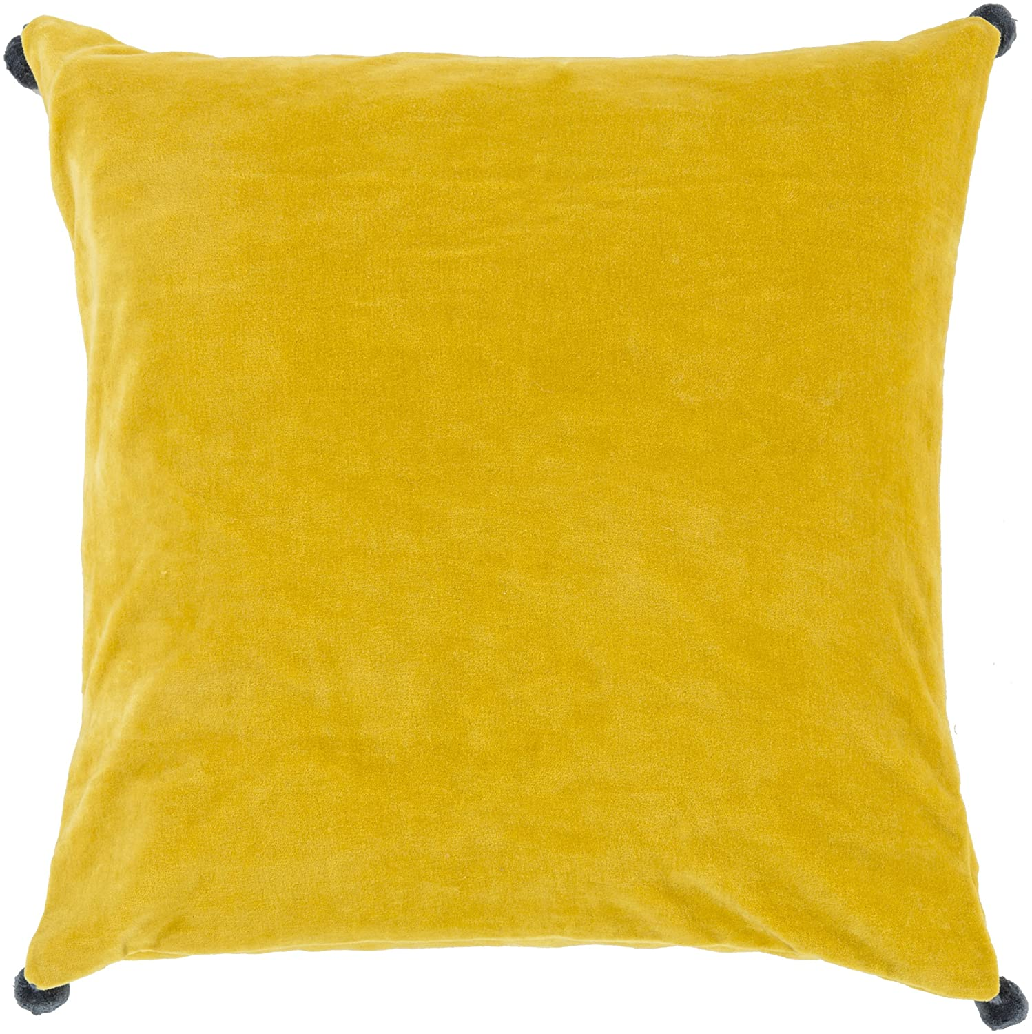 Surya VP007-1818P Synthetic Fill Pillow, 18-Inch by 18-Inch, Lemon/Navy