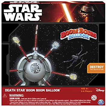 Star Wars – Boom Boom Balloon Death Star– Jeu d'Action Version Anglaise