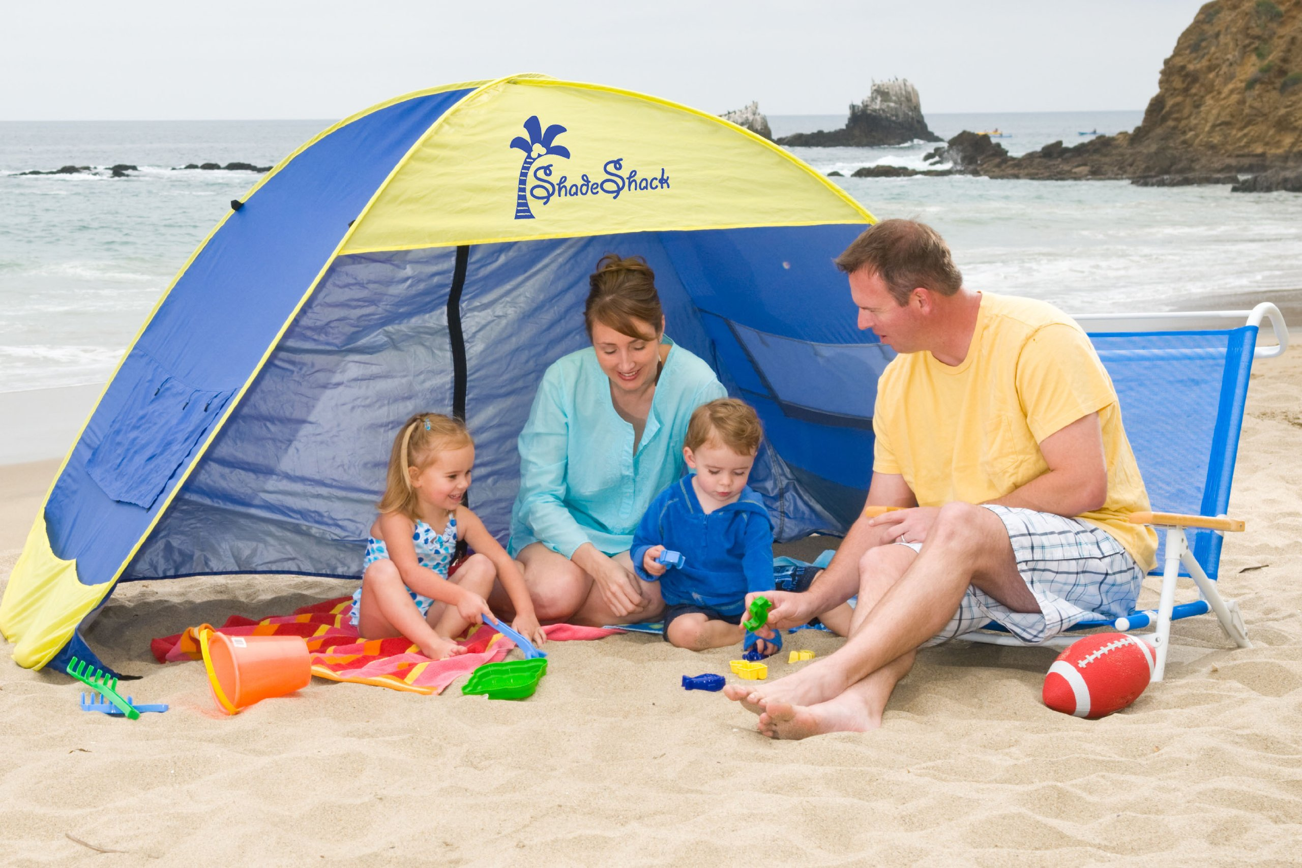 shade shack instant pop up family beach tent and sun shelter ebay. Black Bedroom Furniture Sets. Home Design Ideas