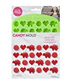 ROSANNA PANSINO by Wilton Nerdy Nummies Silicone Candy Mold, 42-Cavity (Color: Assorted)
