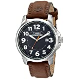 Timex T44921  Men's Expedition Metal Field Brown Leather Strap Watch (Color: Brown/Black)