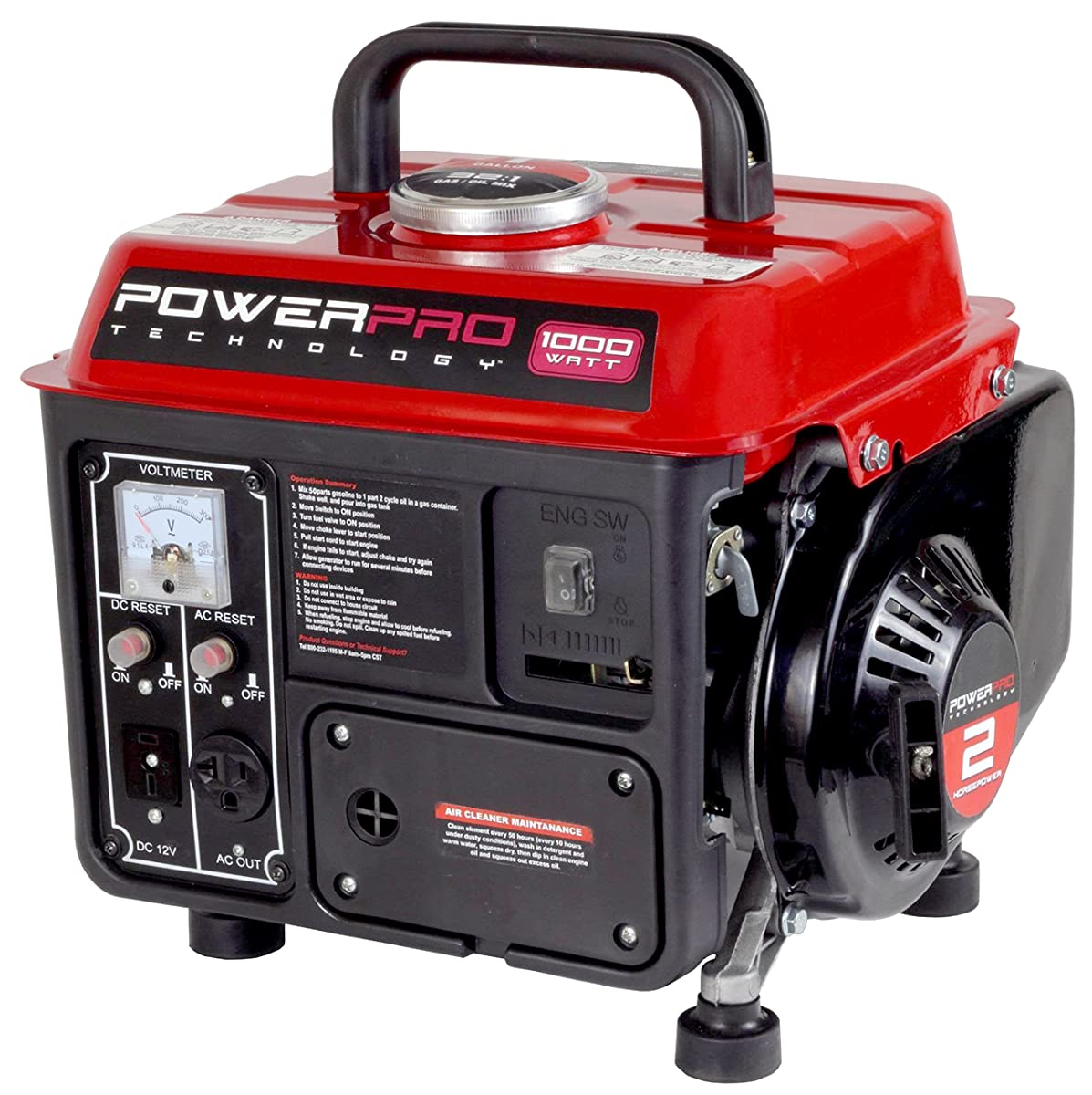 PowerPro 56101, 900 Running Watts/1000 Starting Watts, Gas Powered Portable Generator