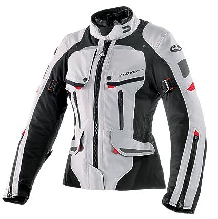 Clover 99170314_ 04Savana Veste de moto pour femme, noir/blanc, Taille L