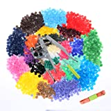 Efivs Arts 1000 Sets T5 KAM Snap Buttons with Plastic Snap Press Pliers Set for Sewing and Crafting-25 Colors (Color: Black)