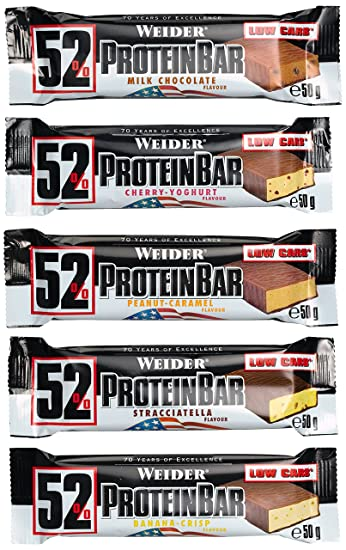 Weider 52% Protein Bar, Mix-Box, 1er Pack (24 x 50 g)