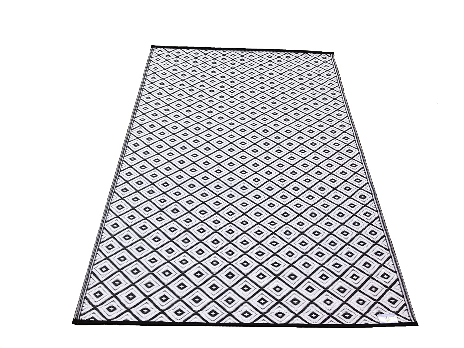 Large Black And White Area Rugs: New Large Quality Arabian Outdoor Black And White Plastic