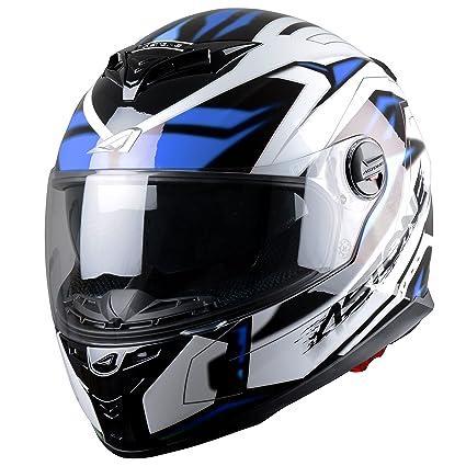 Astone Helmets GT800EX-FUTURA-BBGL Casque Intégral GT800, Futura Noir Bleu, L