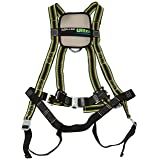 Miller DuraFlex Ultra Stretchable Full Body Safety Harness with Quick-Connect Buckles and Comfort-Touch Back D-Ring Pad, Universal Size-Large/XL, 400 lb. Capacity (E650QC/UGN) (Color: Green, Tamaño: Universal (Large/XL))