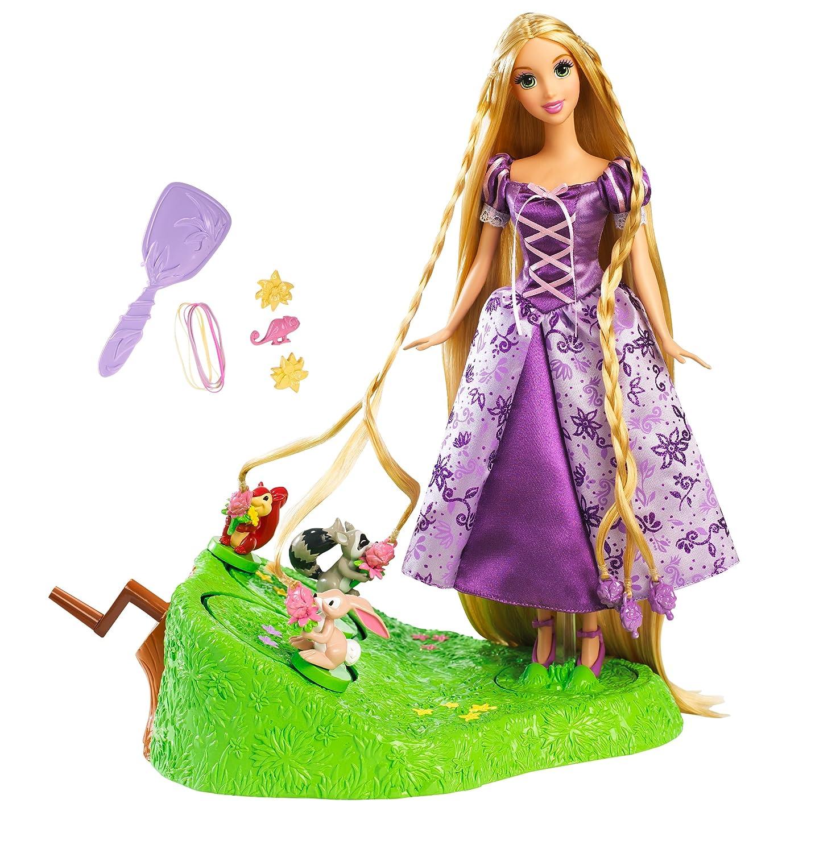 Mattel Disney Princess T2579 – Zopfkreationen Rapunzel, mit Rapunzel Puppe, Tierfreunden und Flechtrad als Geschenk