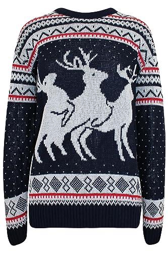 3  Reindeer Novelty Christmas Sweater