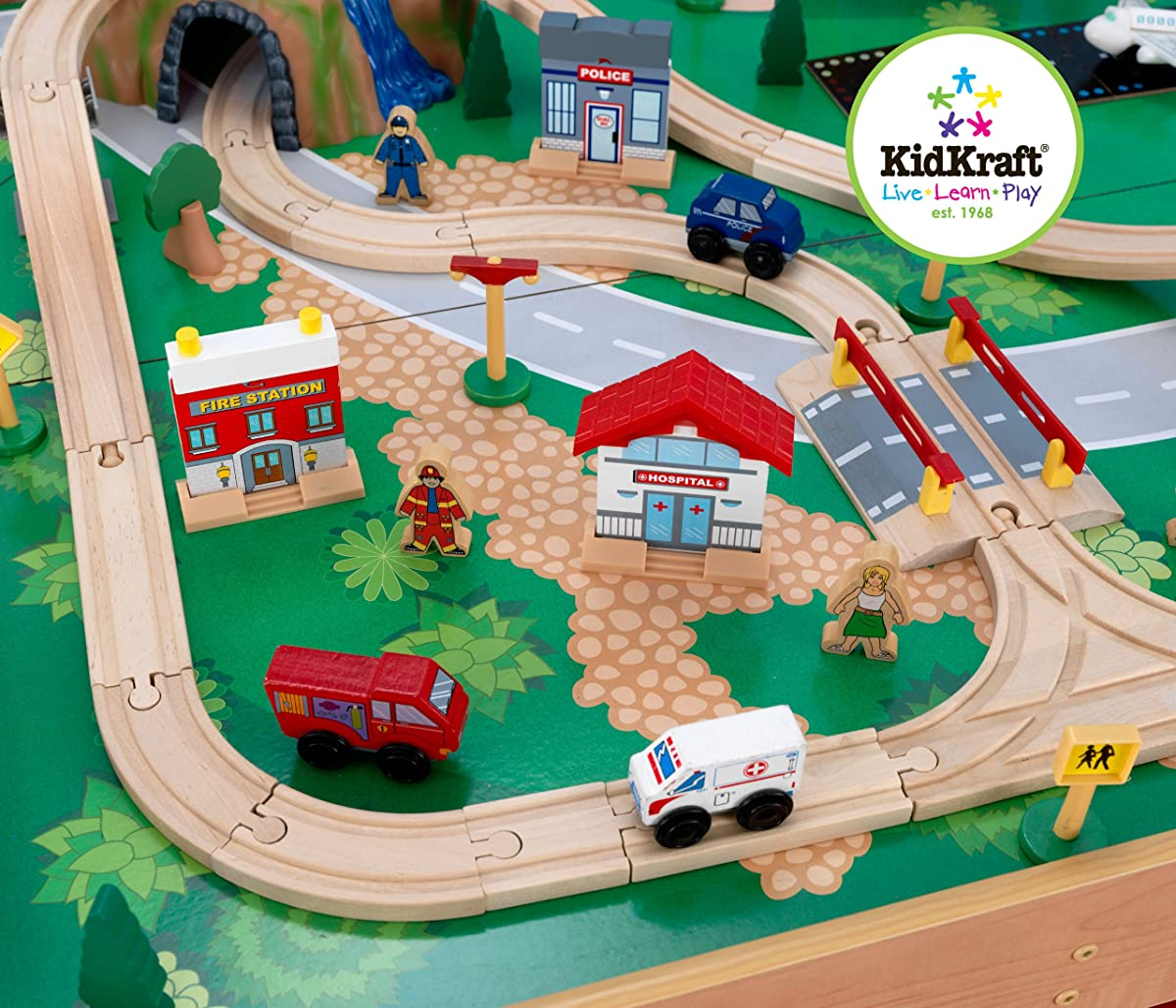 KidKraft Waterfall Mountain Train Set and Table