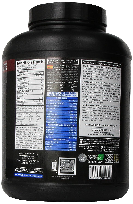 Dymatize Nutrition Elite Whey - 5 lb Cafe Mocha