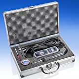X-Tronic Model #3040-XR3-75 Watt Soldering Station - LED Display, C/F Switch, 10 Minute Sleep Function, Iron Holder w/Brass Tip Cleaner, Cleaning Flux Plus 5 Extra Solder Tips (Travel Kit) (Color: GREY)