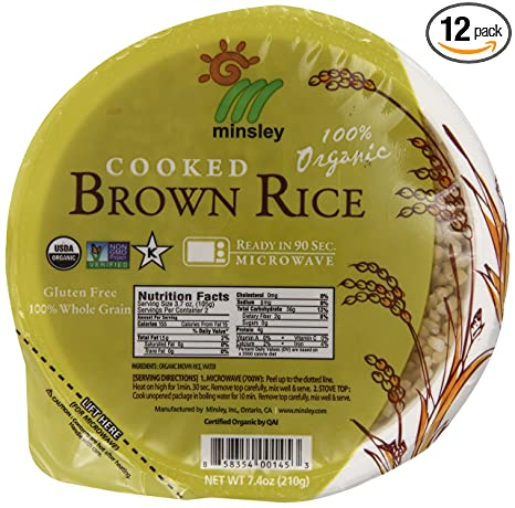 Steamed Brown Rice Bowl, Organic, Microwaveable, 7.4-Ounce Bowls