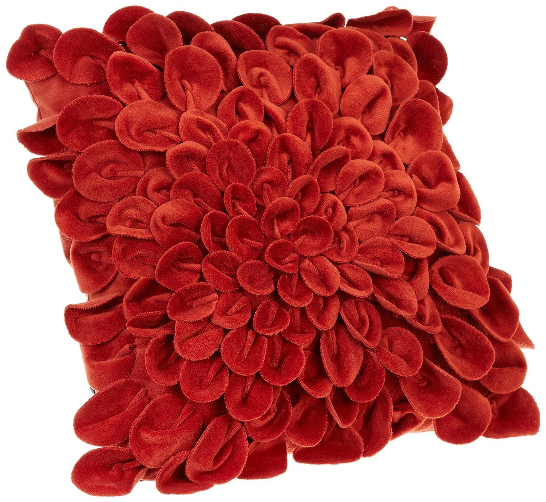 Brentwood Red Starburst Petals Decorative Pillow