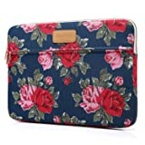 CoolBELL 15.6 Inch Laptop Sleeve Case Cover With Peony Flower Pattern Ultrabook Sleeve Bag For Ultrabook like Macbook Pro/Macbook Air/Acer/Asus/Dell/Lenovo/Women/Men (Color: Peony Flower, Tamaño: 15.6 Inches)