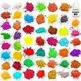 Mica Powder - Soap Making Kit - Powdered Pigments Set - Soap Making dye - 50 Coloring - Hand Soap Making Supplies - Resin Dye - Mica Powder Organic for Soap Molds (Tamaño: 50 colors)