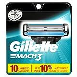 Gillette Mach3 Men's Razor Blades, 10 Blade Refills