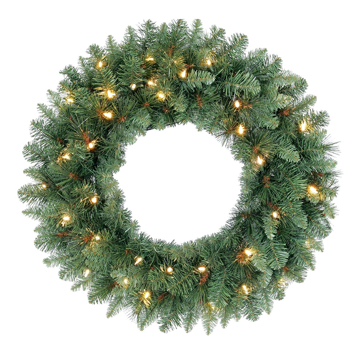 Bethlehem lights wreath battery operated - Border Concepts Swiss Pine Battery Operated Led Christmas Wreath