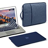 GMYLE 3 in 1 Bundle Navy Blue Soft-Touch Matte Frosted Hard Case for Macbook Air 13 inch (A1369/A1466) Water Repellent Laptop Sleeve Handle and Pocket with Navy Blue Silicon Keyboard Cover [US layout] (Color: Navy Blue II)