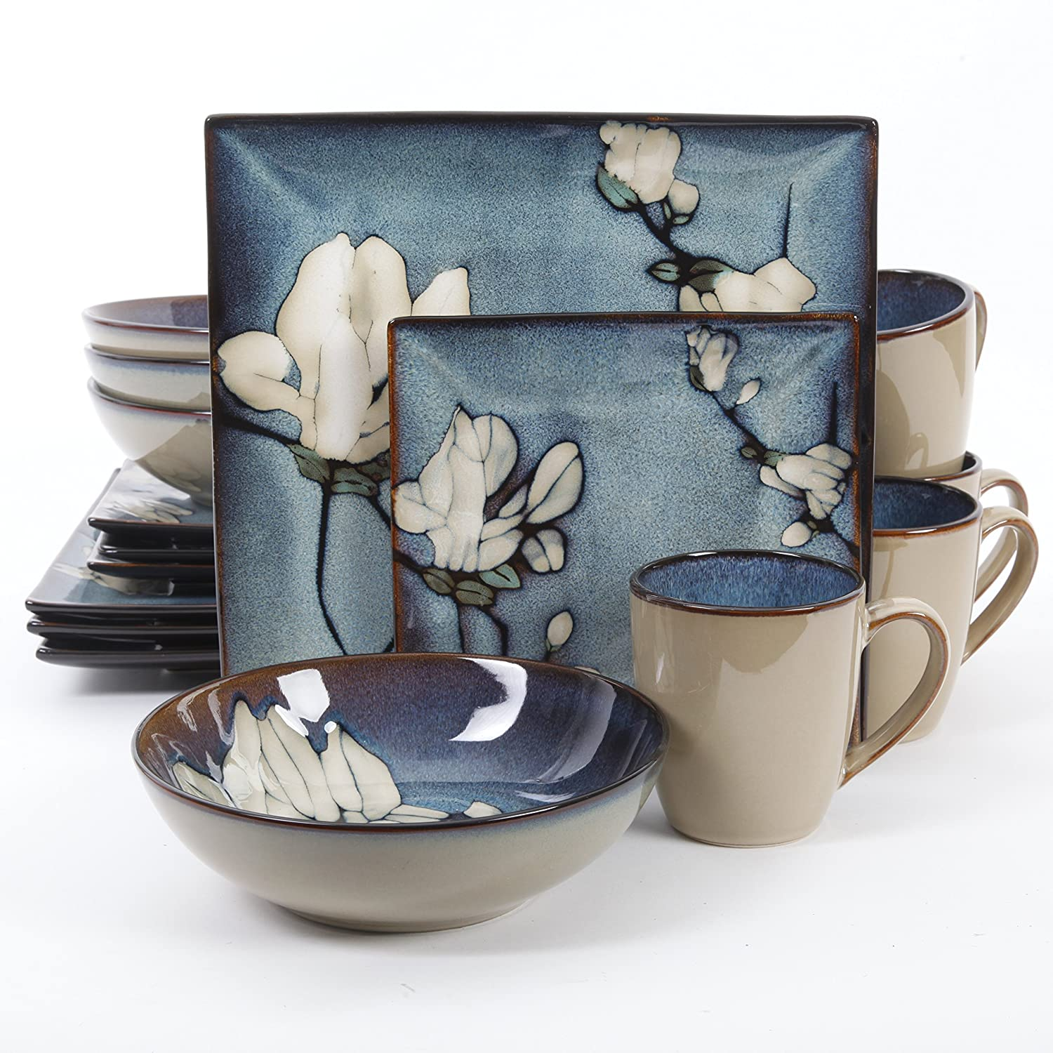 gibson bloomsbury floral dinner dinnerware set square