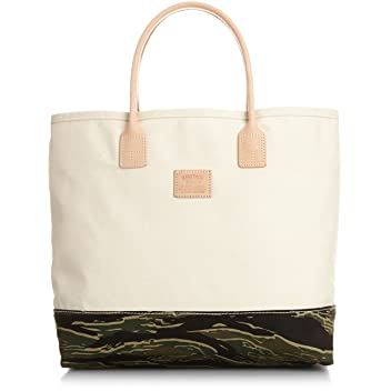 Heritage Leather Company Day Tote 7717: Natural / Tiger Camo