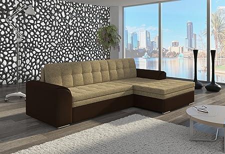 Couch Couchgarnitur Sofa Polsterecke CF07 Ottomane rechts, Soft 66/ Berlin 03 rechts (die Ottomane kann schriftlich kostenlos auf die andere Seite geändert werden) Wohnlandschaft Schlaffunktion Wohnzimmer Kinderzimmer Gästezimmer