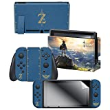 Nintendo Switch Skin & Screen Protector Set, Officially Licensed by Nintendo - The Legend of Zelda Breath of the Wild