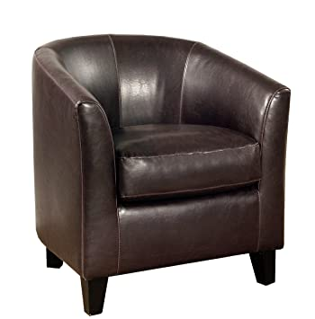 Abbyson Living Stratford Faux Leather Armchair