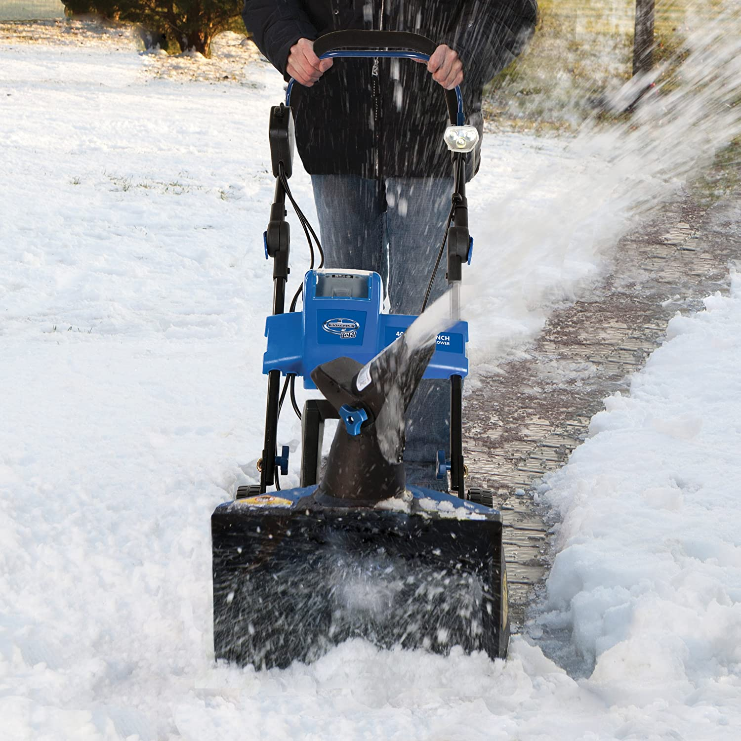 Christmas Gift idea for Dad - Cordless Single Stage Brushless Snow Blower