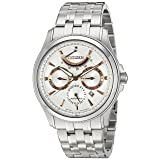 Citizen Men's 'The Signature Collection' Japanese Automatic Stainless Steel Dress Watch, Color:Silver-Toned (Model: NB5000-55A)