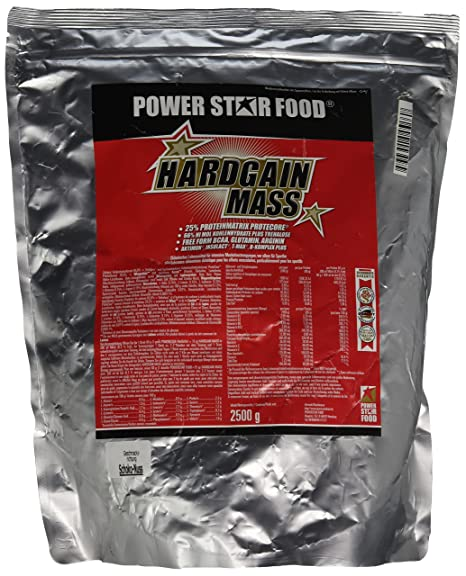 Powerstarfood Hardgain Mass, Schoko-Nuss, 1er Pack (1 x 2.5 kg)