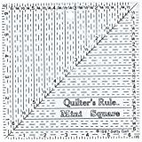 Quilter's 6x6x6-Inch Mini Square Ruler (Color: 6-1/2
