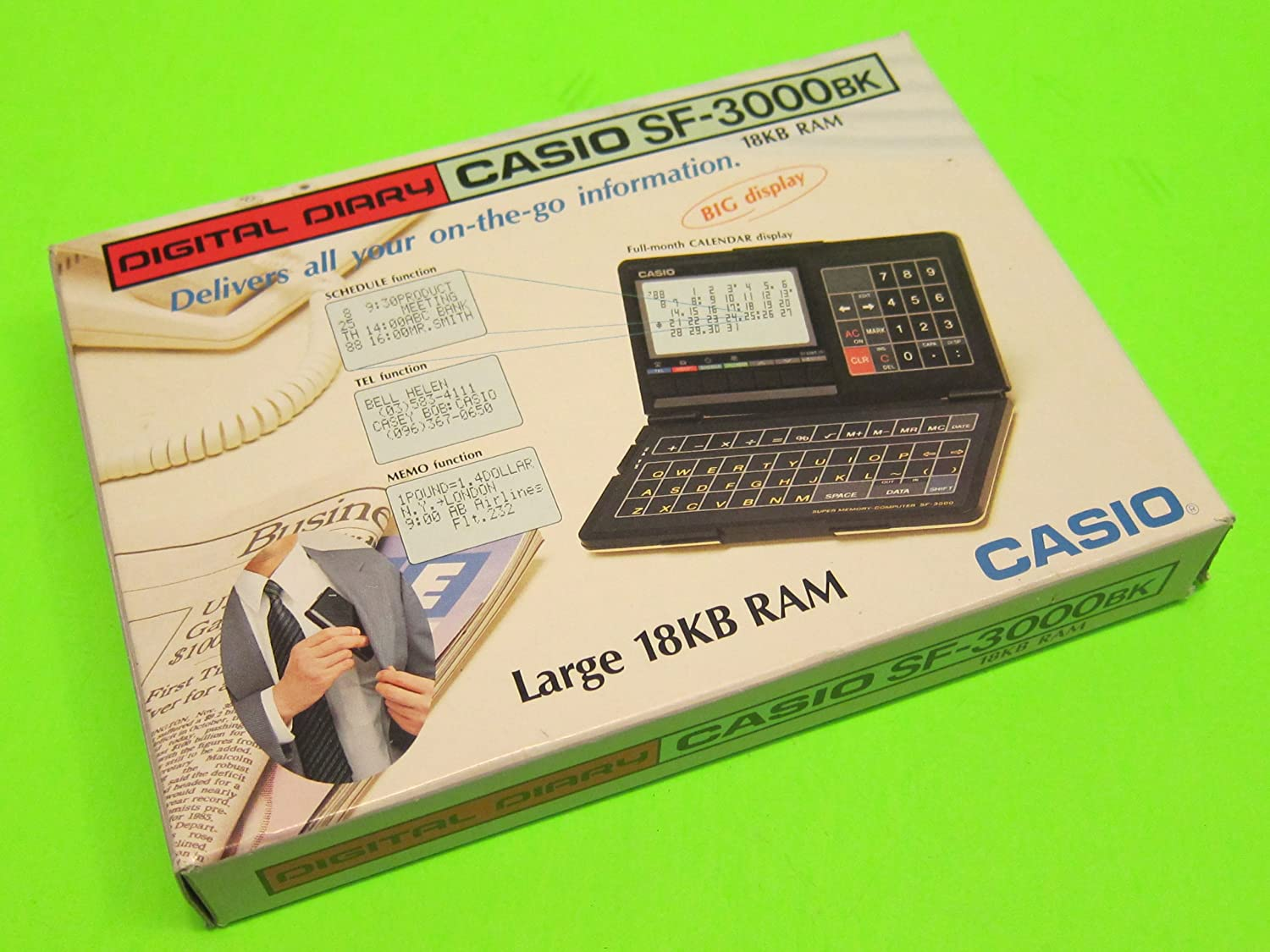 Vintage Casio SF-3000BK Digital Diary 18KB RAM SF-3000 SF3000