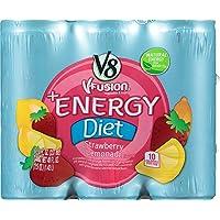 24-Pack V8 +Energy Diet Strawberry Lemonade, 8 Ounce
