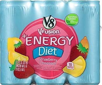 24-Pack V8 +Energy Diet Strawberry Lemonade