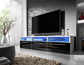 Mueble TV moderno Lavello // / LED de alto brillo
