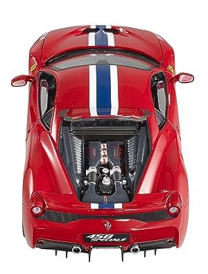 Hot Wheels Elite Ferrari 458 Speciale, Red Vehicle (1:18 Scale)