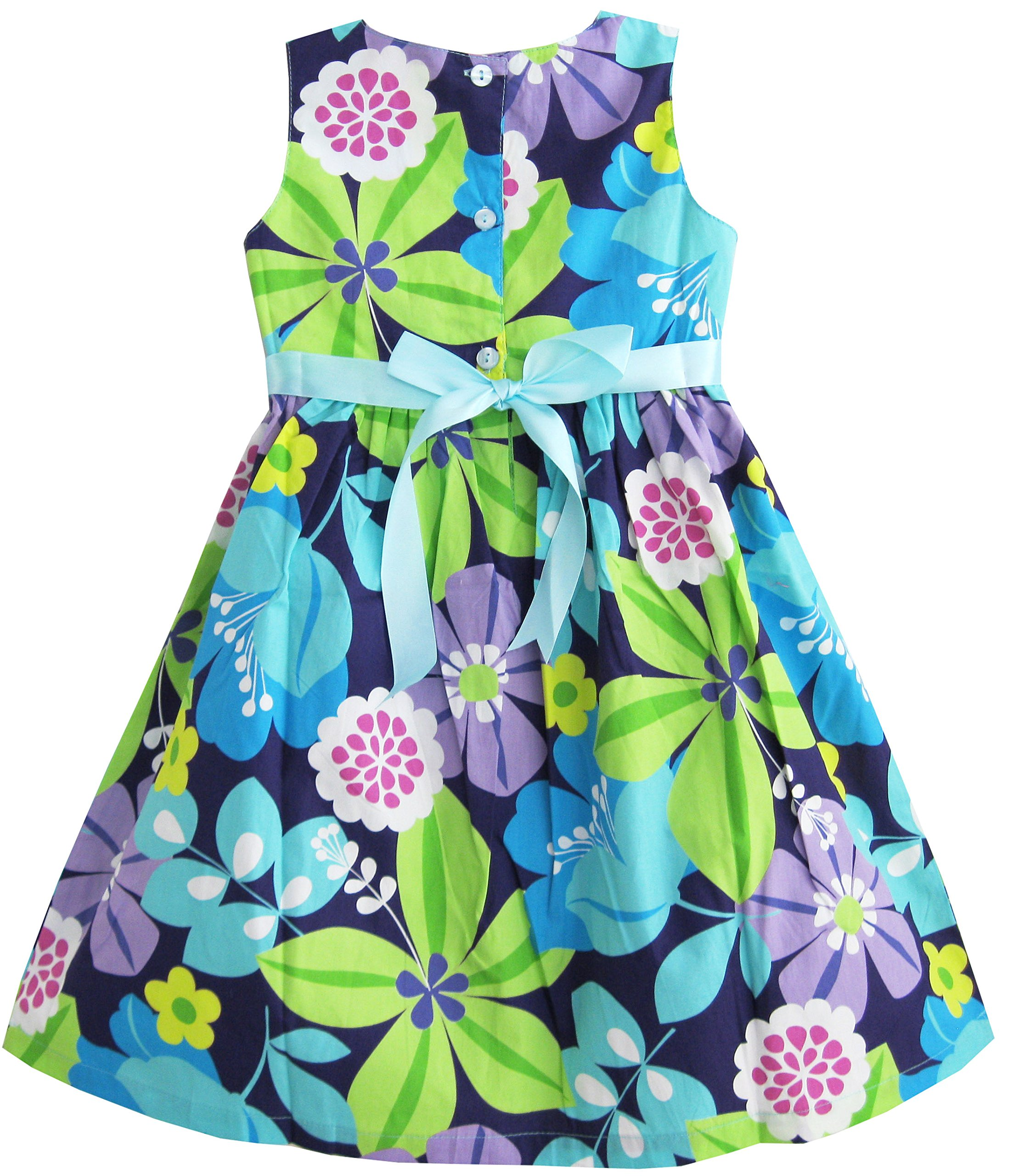 Flower Print Fashion Girls Party Sundress