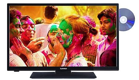 Telefunken L28H272I3D 72 cm (28 Zoll) Fernseher (HD Ready, Triple-Tuner, DVD-Player, Energieklasse A+) schwarz