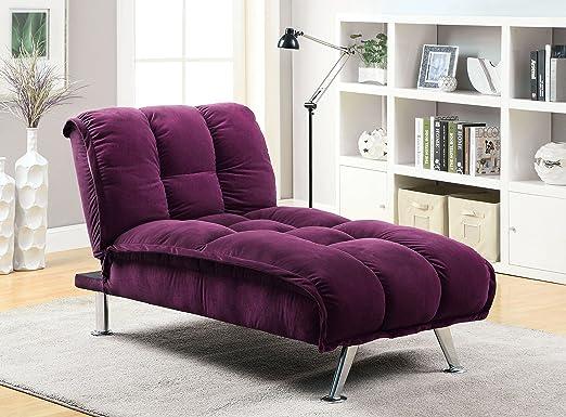 Furniture of America Amanda Futon Chaise, Standard