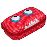 ZIPIT Beast Pencil Case/Pencil Box/Storage Box, Red (Color: Red)
