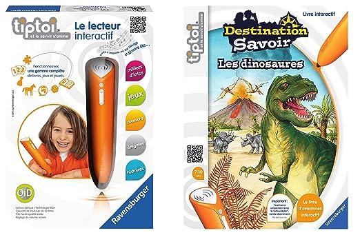 Ravensburger - Lot Lecteur Interactif tiptoi + Livre tiptoi Destination Savoir Dinosaures