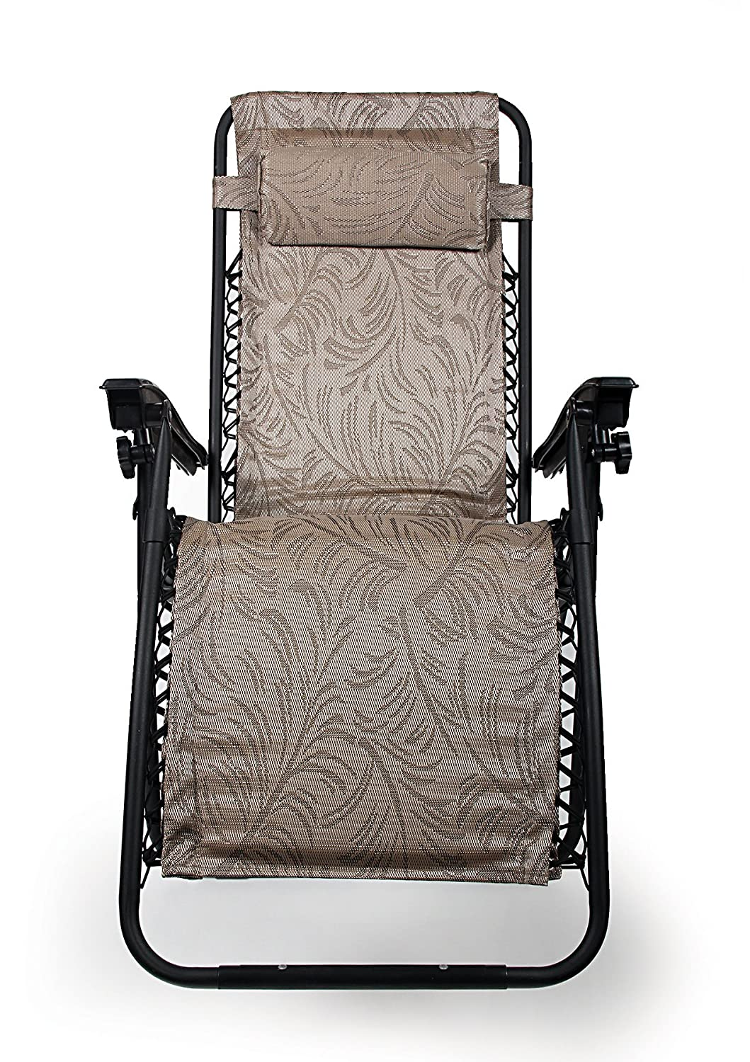 Camco 51812 Zero Gravity Recliner (Tan Fern Pattern)